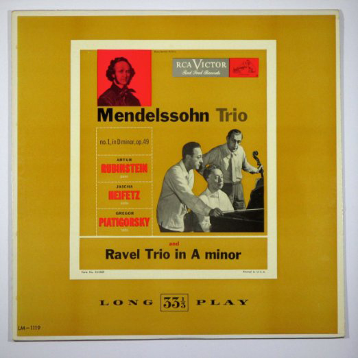 LP.Mendelssohn and Ravel Trios.Cover