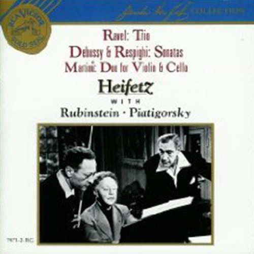 Heifetz with Rubinstein and Piatigorsky