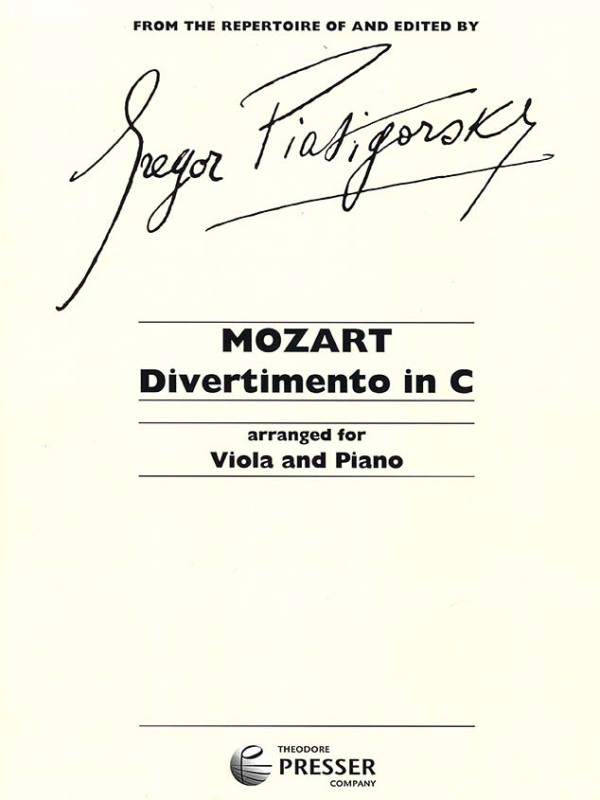Mozart - Divertimento in C