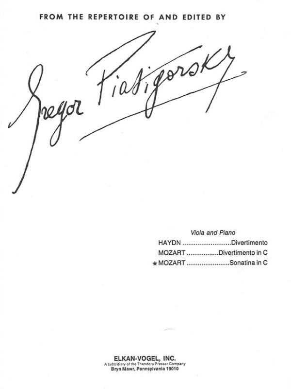 Mozart - Sonatina in C
