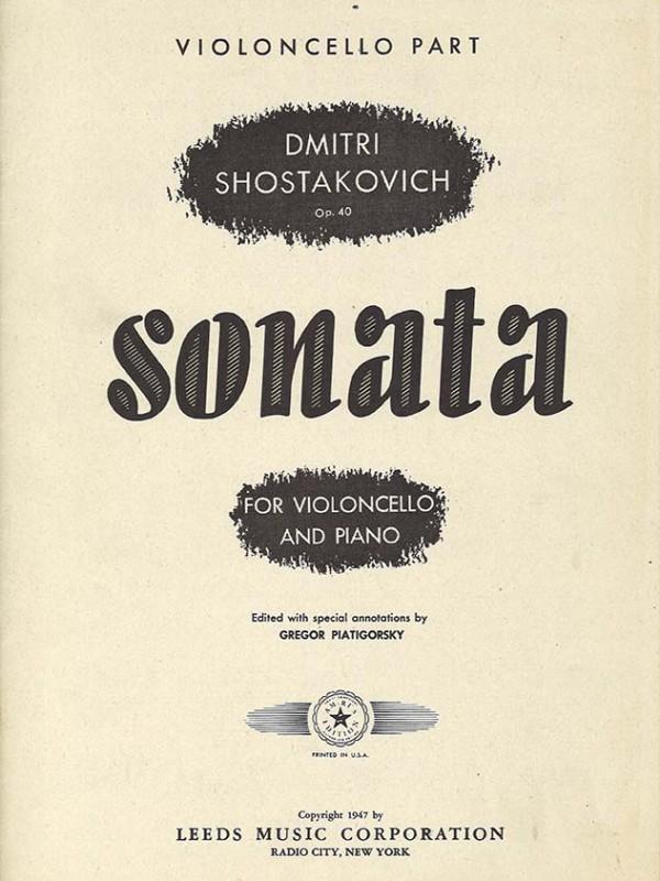 Shostakovich - Sonata